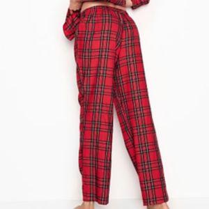 VICTORIA SECRET red plaid flannel pajama pants